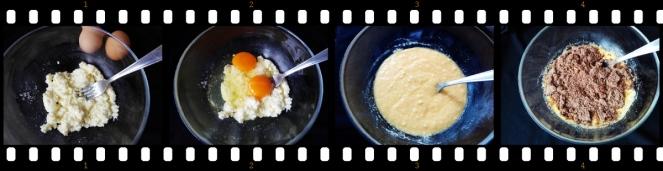 pogacice sa sirom i visnjama, priprema