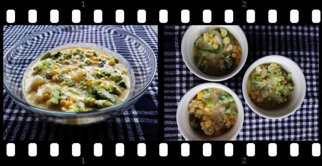 zapecena brokula i karfiol, priprema